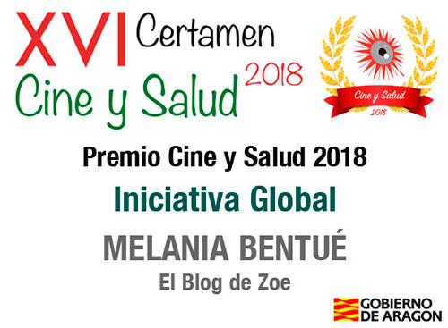 Melania Bentué . Premio Cine y Salud 2018 . Periodista Zaragoza